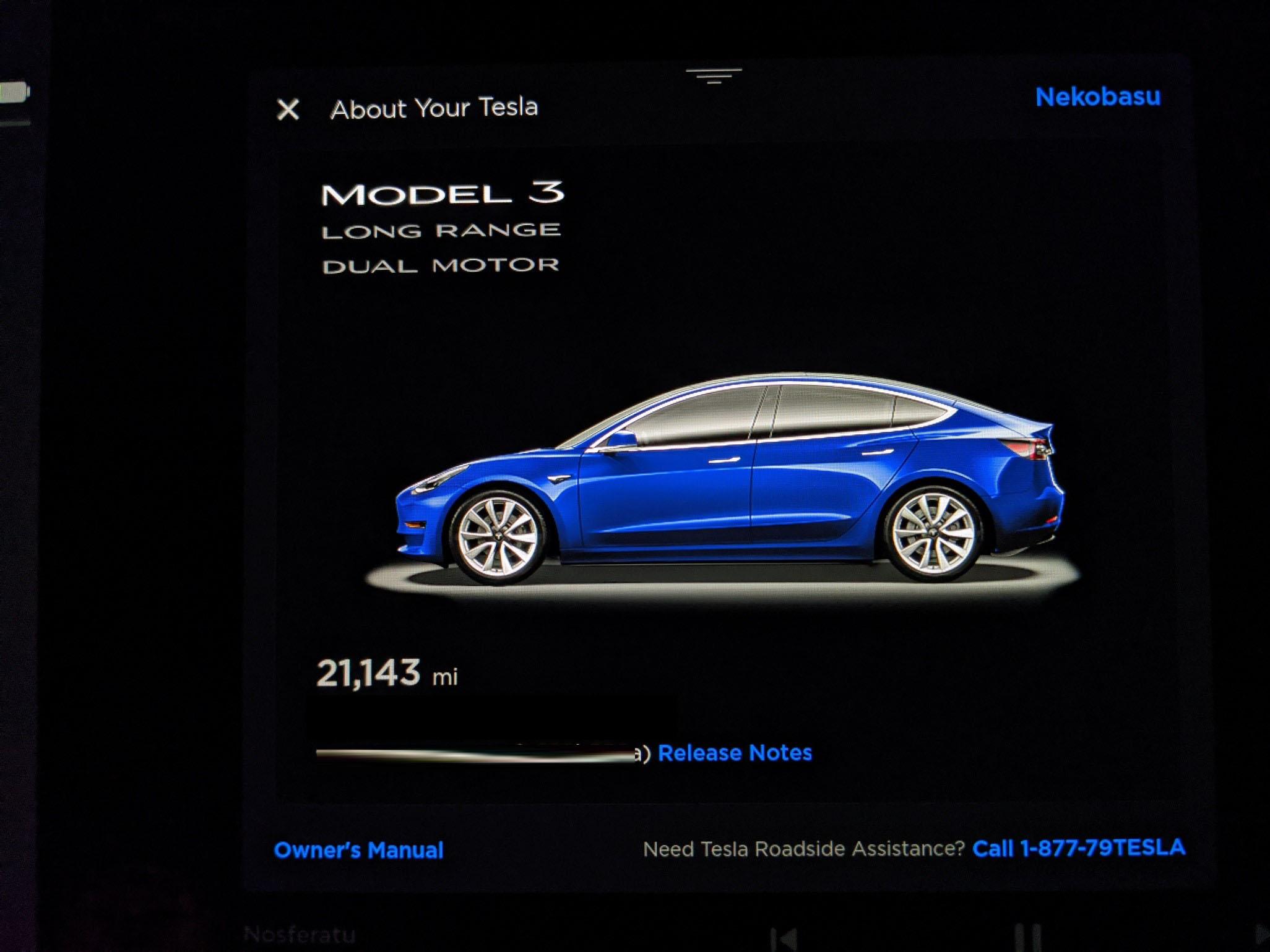 Tesla new update