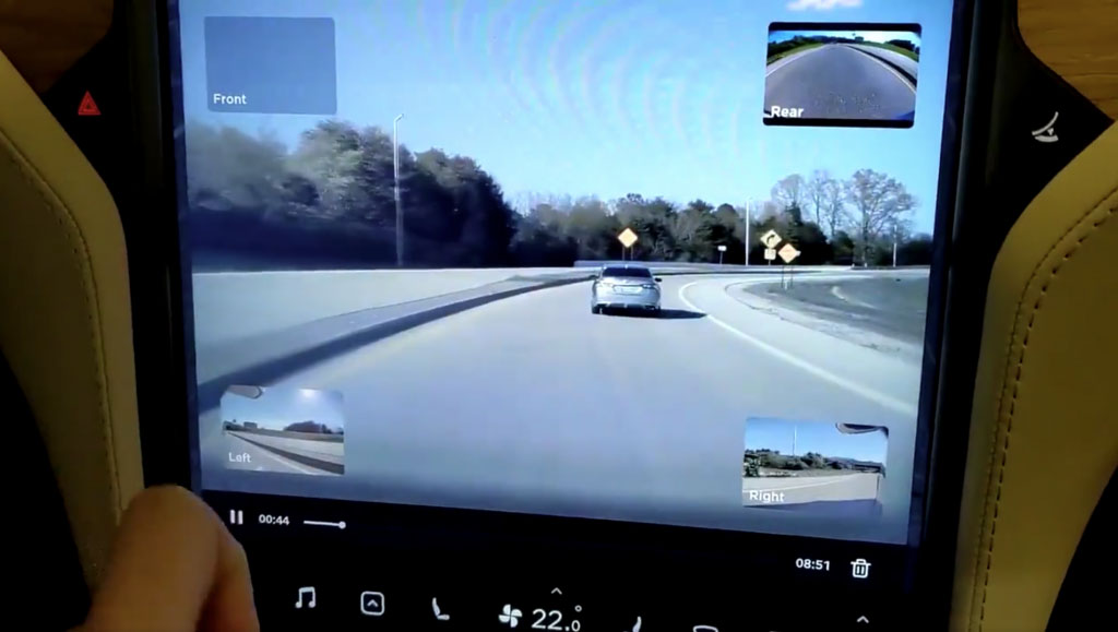 Dashcam viewer. Photo source: Drive Tesla Canada