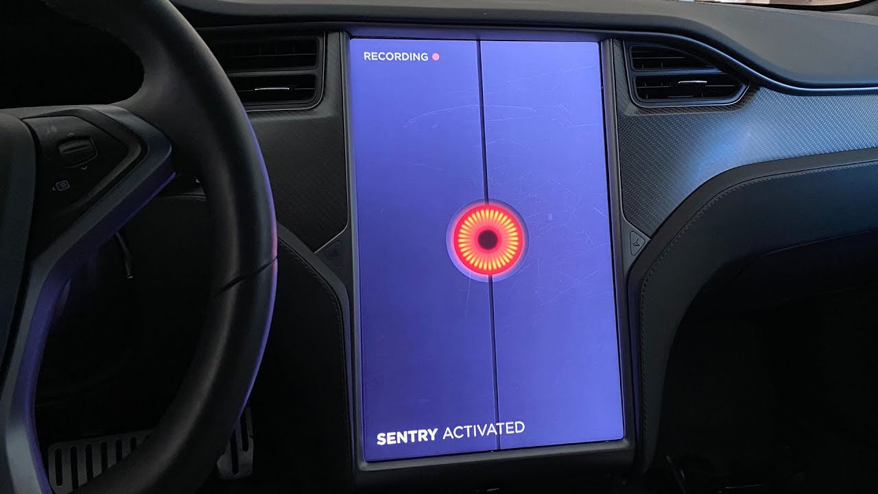 New Sentry Mode activated. Photo source: My Tesla Adventure