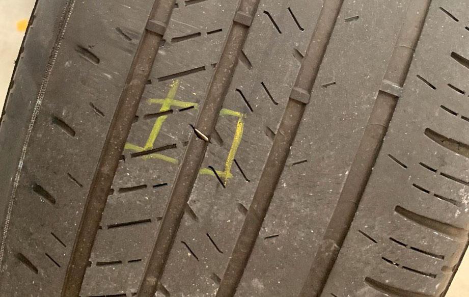 Tesla Flat Tire