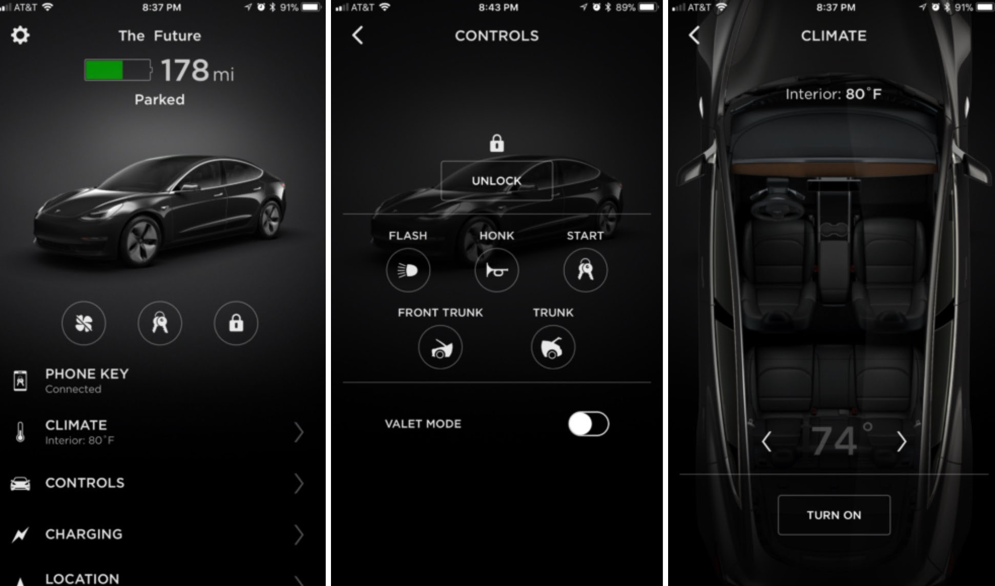 Tesla's Mobile App. Photo source: Teslarati.