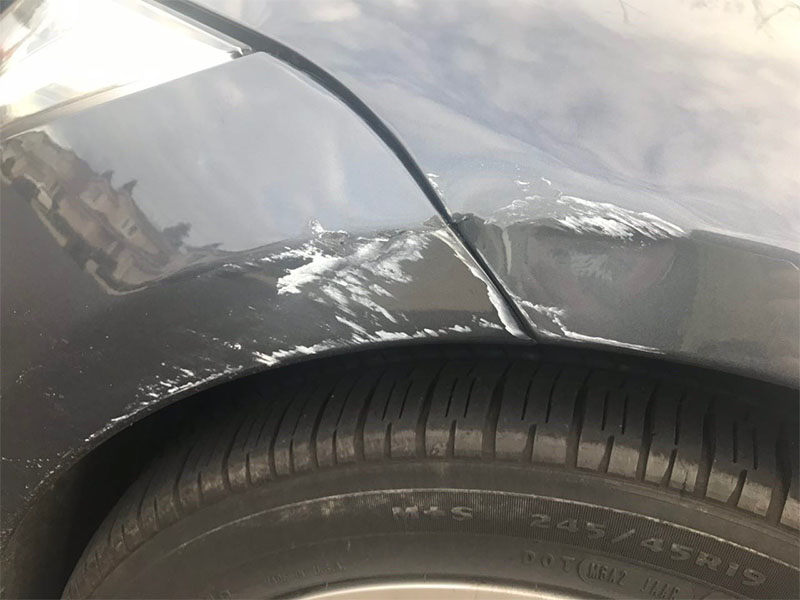 I hit a pole with my Tesla Model S  Here's how much it cost to fix