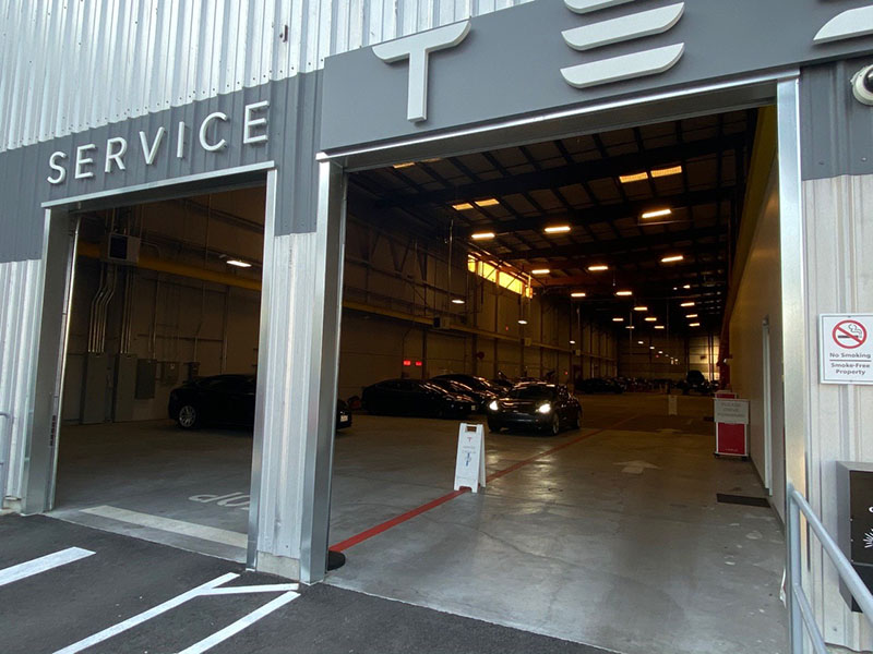 Tesla Service Center entrance in Berkeley, CA
