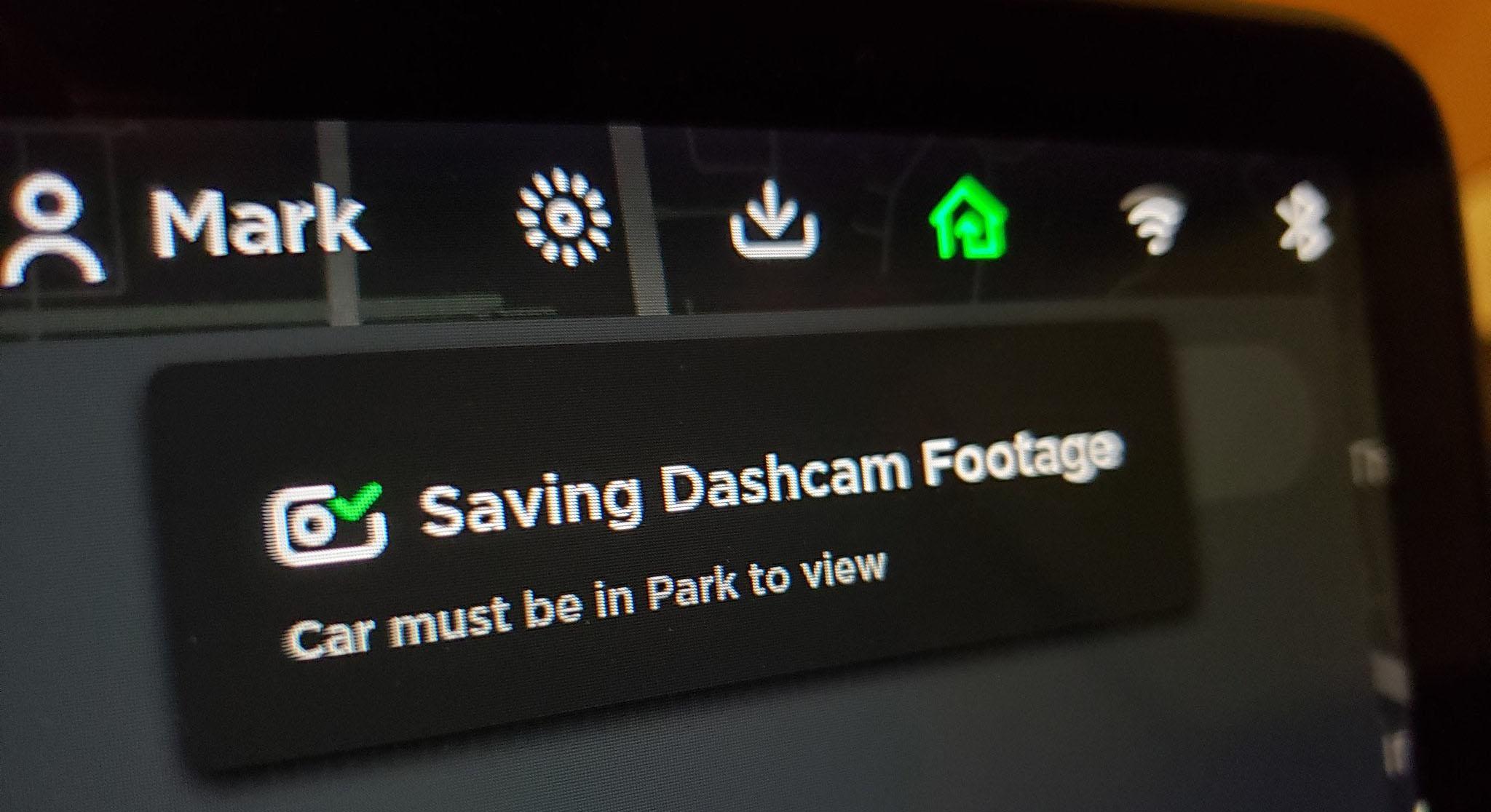 TeslaCam and Dashcam. Picture by @CodingMark