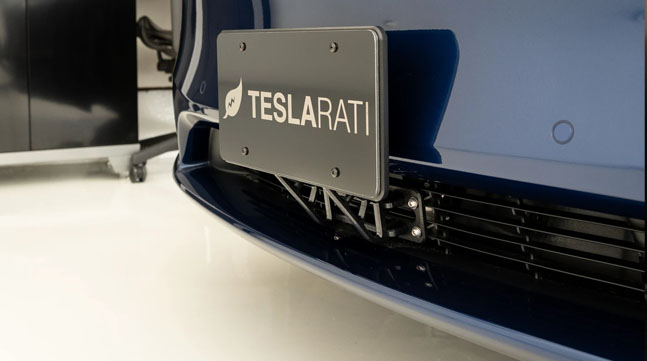 Front License Plate Mount by The Bandit and Teslarati